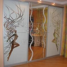 Шкафы купе с художественной матировкой (пескоструй)