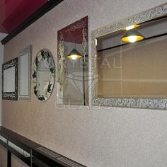 Зеркала с художественной матировкой и камнями сваровски