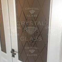 Двери с художественной матировкой (пескоструй)