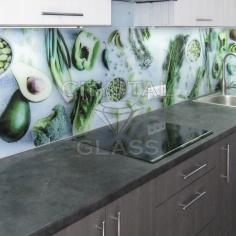 Кухонный фартук со стекла