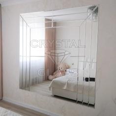Зеркальное панно с фацетной плиткой