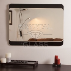 крашеное стекло с зеркаломо