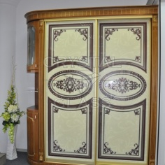 Шкаф купе с УФ печатью и камнями сваровских