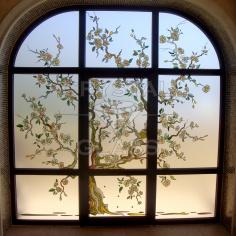 Окна с заливным витражом