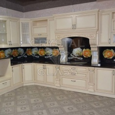 Кухонный фартук кухня класика