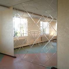 Зеркальная плитка с приклейкой на основу