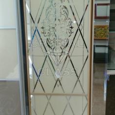 художественная покраска на зеркале со стороны эмольгаммы
