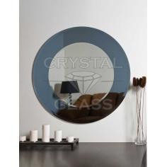 Зеркало комбинированое гравит + серебро