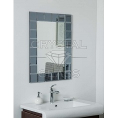 Зеркало комбинированое гравит + серебро + фацет