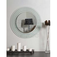 Зеркало комбинированое стекло + серебро + матировка