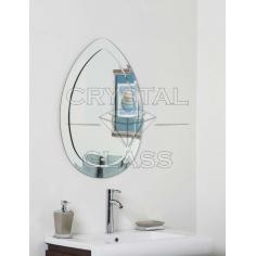 Зеркало комбинированое серебро + серебро