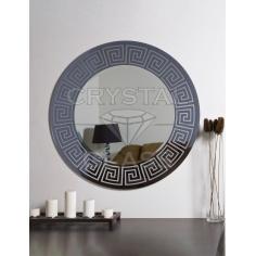 Зеркало комбинированное графит + серебро + рисунок