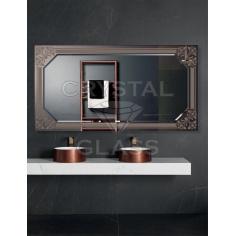 Зеркало комбинированное бронза + серебро + рисунок