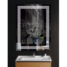 Зеркало с подсветкой кубики