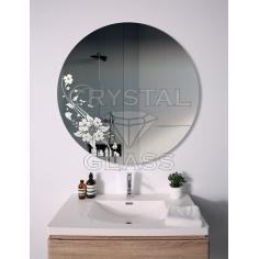 зеркало с рисунком круглое