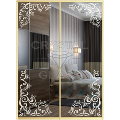 Зеркало с пескоструйной матировкой